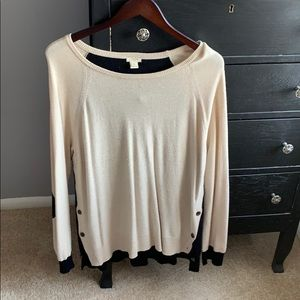 Adorable two-toned jcrew sweater